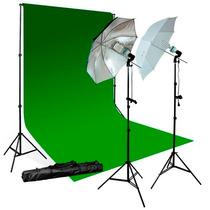 Kit Iluminacion Para Fotografia Fotografico Portafondos Hm4