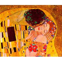 Lienzo En Tela. El Beso Gustav Klimt, 100 X 120 Cm