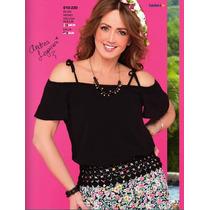 Blusa Negra Elegante Ala Moda Fashion Vintage Casual M Terra