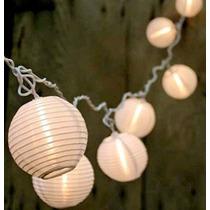 Liquidación! 10 Blanco Caliente China Nylon Linterna Luces D