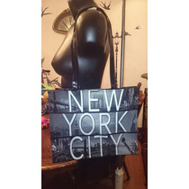 Bolsa Plastica New York City Gris/negro