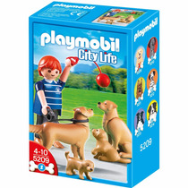 Playmobil 5209 Golden Retrievers Con Cachorros Retromex!!