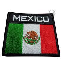 Bandera De México Parche Bordado Escudos,insignias
