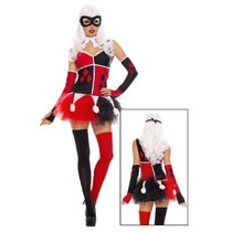 Disfraz Mujer Arlequin Halloween Adulto Harley Quinn Jester