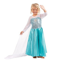 Elsa Dress Snow Queen Costume Elsa Traje De Princesa Vestido