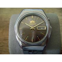 Reloj Orient Automático Crystal Vintage. Dial Cafe Brillante