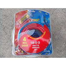 Kit Instalacion Stinger Calibre 4 De Cobre Fuente Amplificad