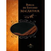 Biblia De Estudio Macarthur Rv1960. Piel. (macarthur)