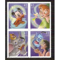 2007 El Arte De Disney Magia Block 4 Estados Unidos Mnh