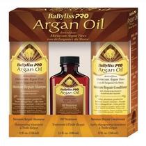 Kit Argan Oil Shampoo, Aceite Y Acondicionador
