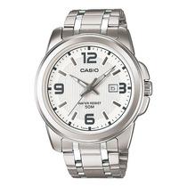 Reloj Casio Mtp 1314 Acero Analogo Fechador Antirayaduras