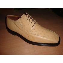 Zapato De Piel De Avestruz Color Orix