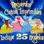 Recuerditos Princesas Disney 21 Cajitas Imprimibles New 2015