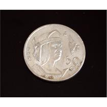 Cuauhtémoc 1950 · Plata Ley 0.300 · 26 Mm