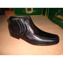 Zapato De Vestir En Piel De Venado Color Negro