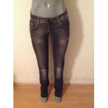 Zara Hermosos Jeans De Mezclilla Gris Obscuro