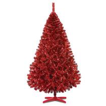 Arbol De Navidad Monarca De Lujo Rojo Metalico 220cm Alt