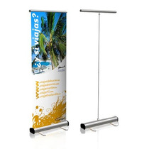 Roll Up Aluminio 0.85x2.00m, Tela Sublimada (1pza) Sd