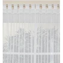 Cortinas Translucidas Tergal Blanco Beige Vianney Vianey Pm0