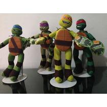 Tortugas Ninja 27cms Las 4 Por $890.00