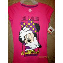 Camisetas Niña De Minnie Mouse , Talla 14 Y 16 Americana.