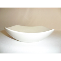Loza Cuadrada Plato Sopero De 21 Cm Color Blanco
