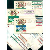 Mexico 1966 Olimpiadas 68 Sobres Con Timbres Raros Mp Msi