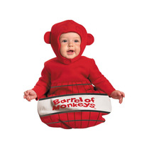 Disfraz Chango Niño Bebe Talla 0 A 6 Meses Barrel Of Monkeys