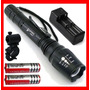 Lampara Tactica 2500 Lumens Cree Led Xlm-t6 Recargable Vbf