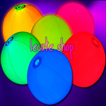 Pelota Luminosa Luz Neon Varios Colores Fiesta Evento Cumple