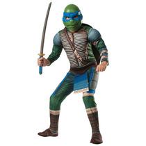 Disfraz Tortugas Ninja Leonardo 10/12 Años Entrega Inmediata