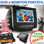 Dvd + Monitor Portatil Para Auto 7 Doble Pantalla