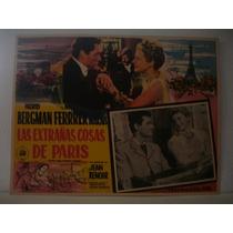 Ingrid Bergman, Las Extrañas Cosas De Paris, Cartel De Cine
