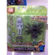 Figura De Minecraft Steve Spider Jockey Pack !!!