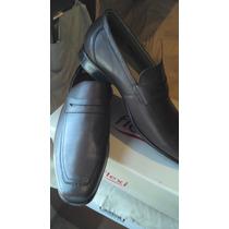 Zapatos Flexi 11 Mex 13 Usa 31 Cm Piel Cafe Vestir Comodos