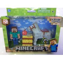 Figura De Minecraft Steve Y Horse !!!