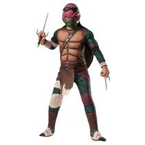 Disfraz Tortugas Ninja Rafael 4/6 Años Original Entrega Inme