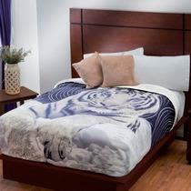 Cobertores Fleece Con Borrega, Oso,tigre, Felino,