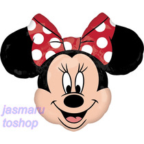 3 Grandes Globo Metalico 28 Pulg. Minnie Mouse 71cm An