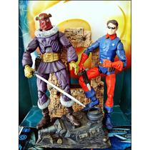 Marvel Legends,baron Zemo Y Buky,con Base Y Espadas,loose,16