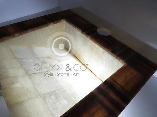 Muebles Para Baño Puebla:Mueble Lavabos Ovalin De Onix-marmol Baño Minimalista
