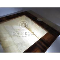 Mueble Lavabos Ovalin De Onix-marmol Baño Minimalista