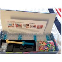 3 Kit Color Loom Juego De Ligas Caja 600 Ligas Xd22