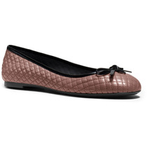 Zapatos Flats Michael Kors Melody Quilted Ballet Piel