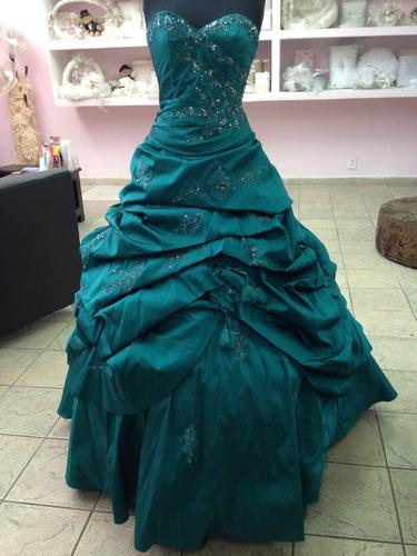 Vestido De Vx Años En Color Verde Jade Mori Lee Compra Y Venta