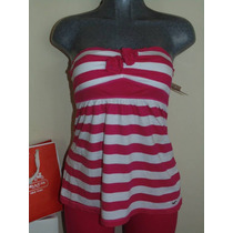 Blusas Hollister Co. T-m Nueva Striped Con Flor Shorts,falda