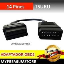 Adaptador Conector 14 Pines A Obd2 Nissan Tsuru 2005 A 2014