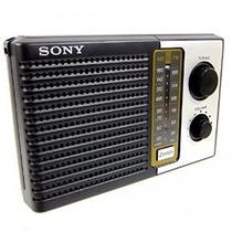 Sony Icf-f10 Dos 2 Banda Fm / Am Batería Transistor Radio Po