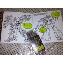 Invitacion Transformers Para Colorear Incluye Crayola