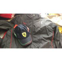Chamarra Ferrari Puma Xl Negra Nueva +regalo Envío Gratis